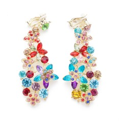 Colourful Alloy With Rhinestone Ladies' Fashion Earrings
