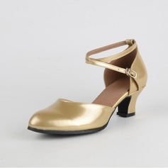 Women's Leatherette Heels Latin With Buckle Dance Shoes