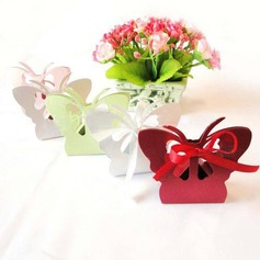 Butterfly Theme Favor Boxes With Ribbons (Set of 12)