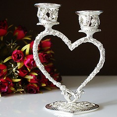 Silver Plated Heart Candle Holder(096017653)