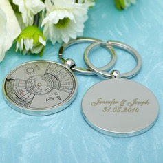Personalized Perpetual Calendar Stainless Steel Keychains (Set of 6)