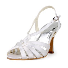 Satin Stiletto Heel Sandals Wedding Shoes (047011812)