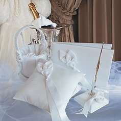 Calla Lily Wedding Collection Set In Ivory Satin (4 Pieces)(100018016)