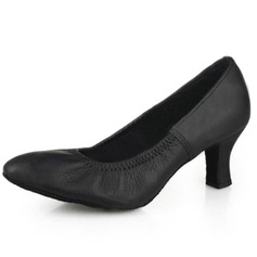 Real Leather Heels Pumps Modern Dance Shoes (053009731)