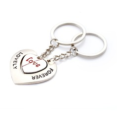 "Personalized ""Lovely Forever"" Stainless Steel Keychains (Set of 6 Pairs)"