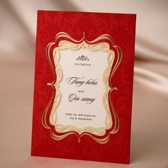 Personalized Classic Style Wrap & Pocket Invitation Cards (Set of 50)