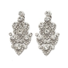 Exquisite Alloy With Rhinestone Ladies' Fashion Earrings