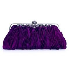 Purple Gorgeous Silk Evening Clutches More Colors Available (012005430)