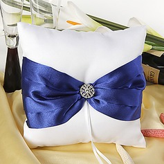 Splendor Ring Pillow With Royal Blue Sash And Rhinestones(103018227)