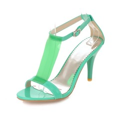 Leatherette Stiletto Heel Sandals Pumps With Buckle shoes
