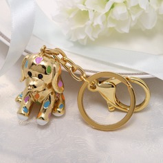 Classic Cute Puppy Zinc alloy Keychains