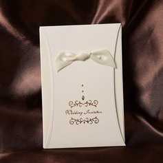 Classic Style Wrap & Pocket Invitation Cards With Ribbons (Set of 50)