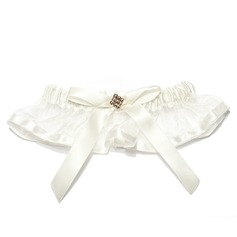 Lovely Satin Organza With Rhinestone Wedding Garters