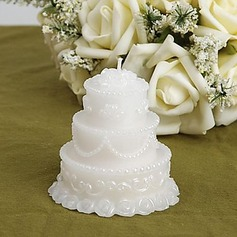 White Wedding Cake Candle Favors (set of 4)(096017620)