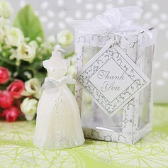 Elegant Wedding Gown Candle Favors(set of 4)(051015927)