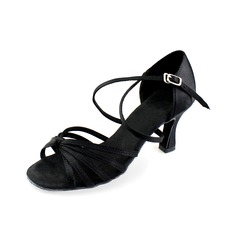 Satin Heels Sandals Latin Ballroom Dance Shoes (053006987)