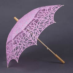 Lovely Cotton Wedding Umbrellas