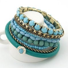 Chic Alloy Resin Ladies' Fashion Bracelets