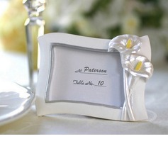 Flower Design Resin Place Card Holders (051025012)