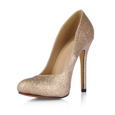 Sprankelende Glitter Stiletto Heel Pumps Closed Toe schoenen
