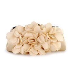 Apricot Gorgeous Satin Evening Handbags (012006681)