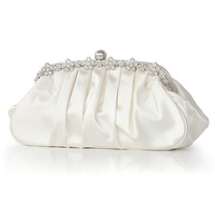 Clutch Occasioni speciali Seta Catenina Borsette con Cristalli/ strass (012011035)