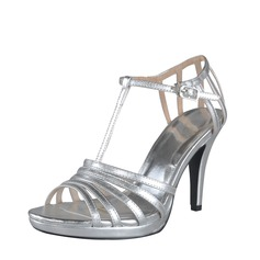 Leatherette Cone Heel Sandals Platform Slingbacks With Buckle shoes
