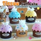 Plastic Cupcake Tissue Box Favor – Assorted Colors (051024868)