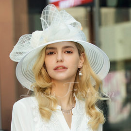 27c4d2be485 Ladies  Exquisite Fancy Vintage Polyester With Tulle Floppy Hat Kentucky  Derby Hats (196197052) - Hats - DressFirst