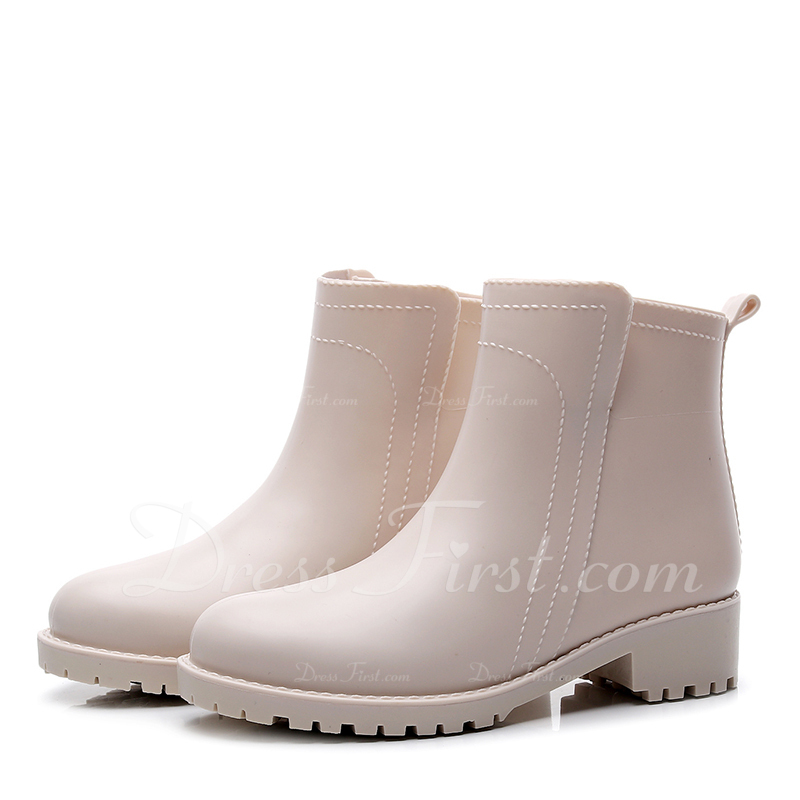 Rubber Low Heel Boots Martin Boots shoes