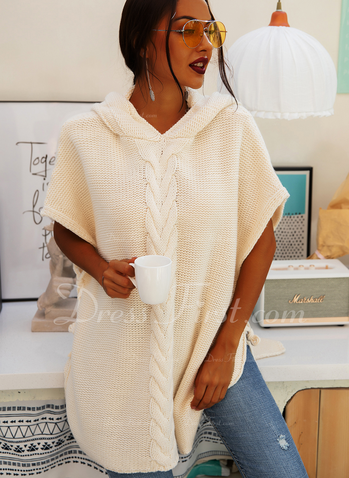Solid 1/2 Sleeves Casual Dresses
