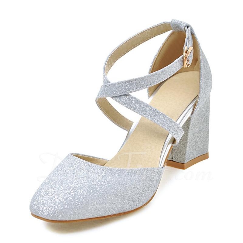 女性用 PU チャンキーヒール パンプス クローズド足 とともに 他人 靴