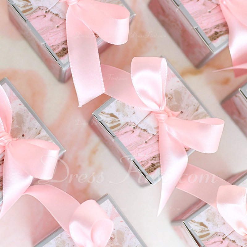 Creative Cubic Card Paper Favor Boxes & Containers With Ribbons (Set of 20)