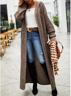 Hooded Casual Long Solid Sweaters