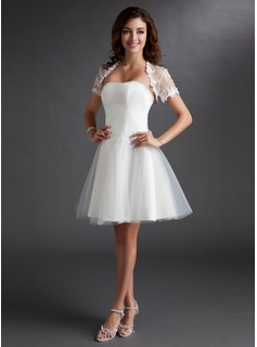 Short Sleeve Lace Special Occasion Wrap