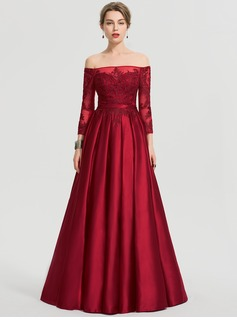 362fd166db8 Prom Dresses   192375. Loading zoom. Loading. Color  Burgundy. Ball-Gown Princess  Off-the-Shoulder Floor-Length Satin ...