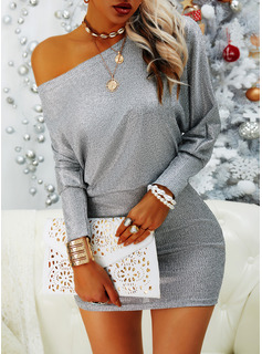 Sequins Bodycon Long Sleeves Mini Party Elegant Dresses