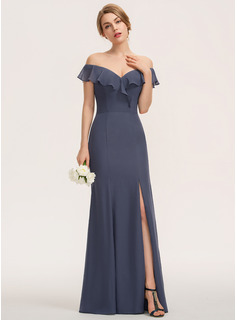 Off the Shoulder Stormy Chiffon Dresses
