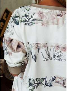 Floral Print V-Neck Long Sleeves Sweatshirt