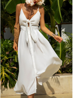 Solid A-line Sleeveless Maxi Little Black Party Sexy Vacation Skater Type Dresses