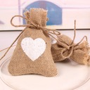 Snow Cut-out/Heart style Heart-shaped Linen Favor Bags (Set of 12)