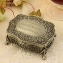 Bridesmaid Gifts - Personalized Classic Elegant Vintage Alloy Jewelry Box (256170267)