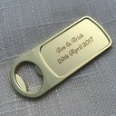 Personalized Zinc Alloy Bottle Opener (Sold in a single piece)