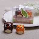 """""""Owl Always Love You"""" Ceramic Salt & Pepper Shakers With Ribbons (Set of 2 pieces)"""