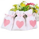 Creative/Simple/Heart style Handbag shaped Linen Favor Bags (Set of 12)