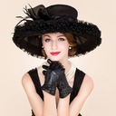 Ladies' Glamourous Organza With Feather Floppy Hats/Kentucky Derby Hats/Tea Party Hats (196091599)