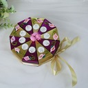 Sweet Love Cubic Card Paper Favor Boxes With Flowers (Set of 10)