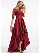 A-line 1/2 Sleeves Asymmetrical Elegant Dresses