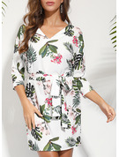 Floral Print Bodycon Short Sleeves Mini Casual Elegant Dresses