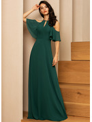 A-line 1/2 Sleeves Maxi Romantic Sexy Dresses